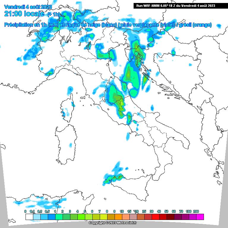 Modello WRF Precipitazioni